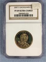 2007 S Sacagawea dollar coin PG67 Ultra Cameo by N