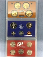 Partial 2008 US Mint Proof set and a 2001 State qu