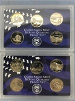 Lot of 2 state quarter proof sets, 2005 S, 2006 S