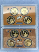 Lot of 2 US Mint Presidential dollar sets, 2009, 2