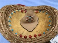 Handmade basket from Georgia longleaf pine needles