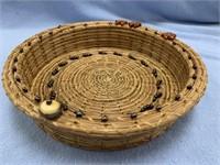 Three Turtle Beach, handmade basket made from Geor