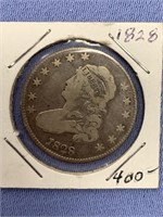 1828 Capped bust silver quarter           (33)
