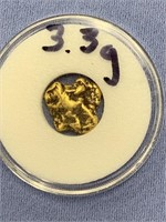 Solid gold nugget weighs 3.3 grams          (33)