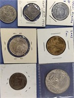 Lot of 6 coins including 1965 Peruvian silver