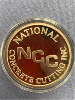 1 oz. silver coin by National Concrete and