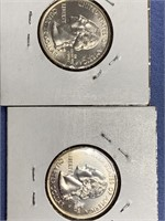 Lot of 4 Alaska State quarters with gold plating