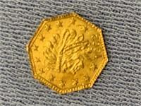 1902 One quarter pinch token made from Alaska