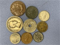 Small bag lot of mostly older foreign coins,
