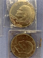 Lot of 6 American coins including Bicentennial
