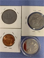Lot of 8 American coins including 2004 S silver