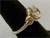 Sterling silver lady's ring engagement style with