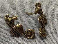 Sterling silver lady's earrings in the shape of
