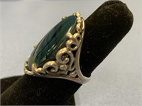 Sterling silver lady's ring with a simulated