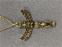 Sterling silver pendant of a Tlingit totem on