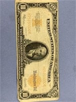Series 1922 $10 gold note well circulated