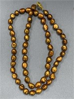 """33"""" Long strand of large freshwater pearls"""