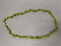 """17"""" Long strand of peridot druzy beads"""