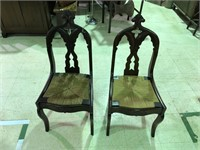 LOT OF 2 ANTIQUE CHAIRS