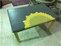 HAND PAINTED SUNFLOWER END STAND