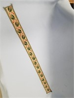 Beautifully beaded belt portion amazing detail and