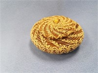 Tiny hand woven basket lidded made from Georgia lo