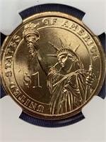 2007 D George Washington dollar coin graded MS65 f