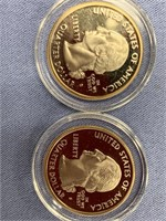 Lot of 4: 2008 S Alaska silver proof quarters with