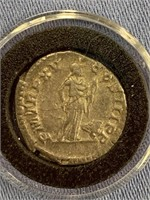 Silver Roman coin Denarius from reign of Septimus