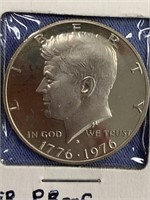 Lot of 2 bicentennial Kennedy silver proof half do