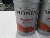 (4) Monin 1L Strawberry Puree w/(4) Pumps
