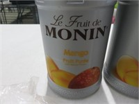 (4) Monin 1L Mango Puree w/(4) Pumps