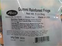 (2) Albanese 5lb Gummi RainForest Frogs