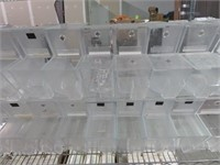 (34) Plexiglass Toppings Containers