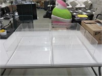 (4) Plexiglass Stands for Syrup Pumps