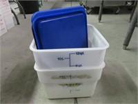 (2) 12-Quart Measuring Pails