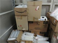 Large Lot of Containers, Utensils, Napkins & Trash