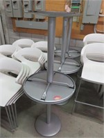 """(7) 24"""" Circular Metal Dining Tables"""