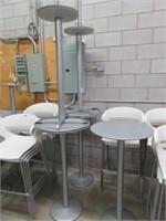 """(5) 24"""" Circular Bar Height Metal Tables"""