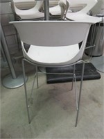 (21) White Plastic Bar Height Tub Chairs