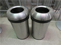 (2) SimpleHuman S/S Bullet Style Trash Cans