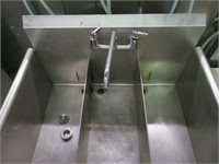 """S/S 36"""" 3-Compartment Sink w/Faucet"""