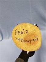 Beautiful hand made wood Kachina doll with fur,