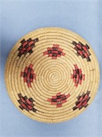 Hand woven Hooper Bay grass tray with dyed