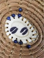 Blue Dawn basket, made from red and yellow pine