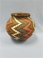 Beautiful grass basket with stunning colors,