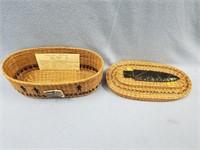 Shadowed Warriors basket, ponderosa pine needles,