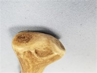 Reproduction flint knife with antler handle and