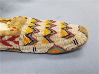 Pair of old hand beaded slippers, beautiful,