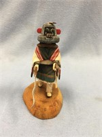 Lot of 4 hand carved wood Kachina dolls, tallest